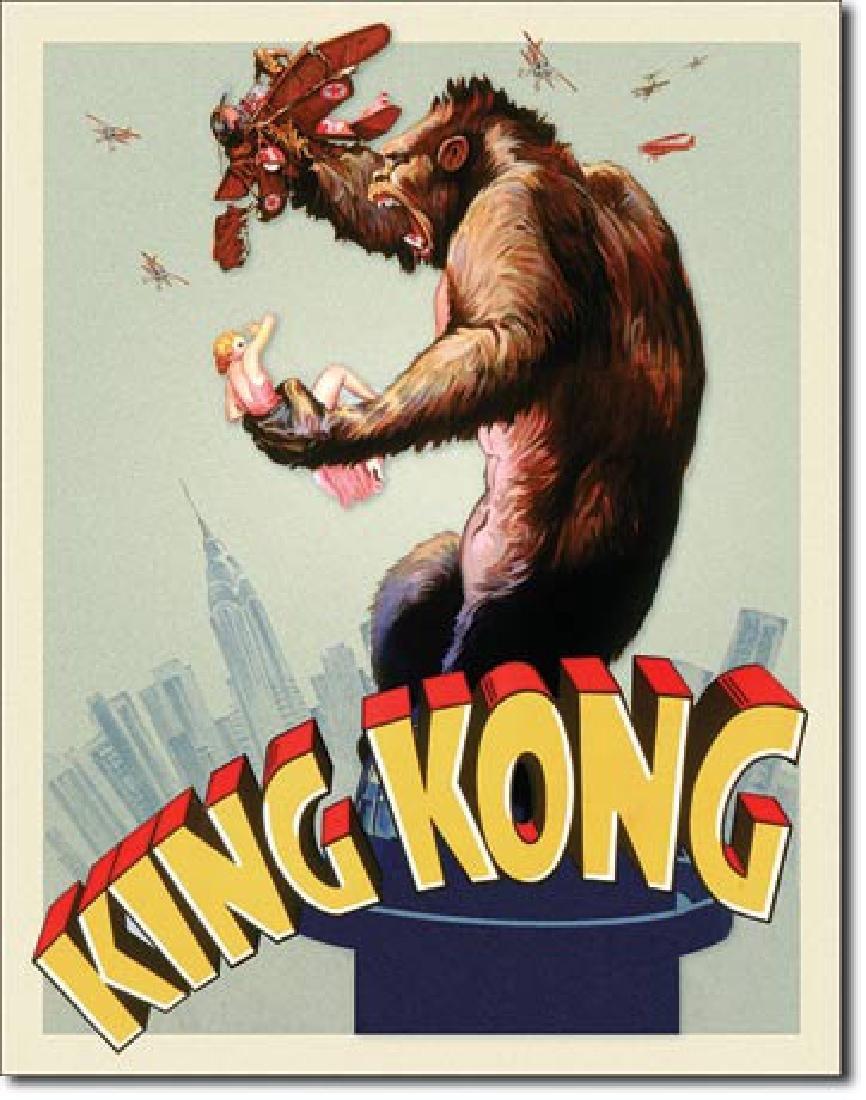 "KING KONG METAL SIGN 12.5"" X 16"""