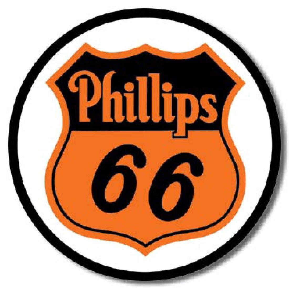 "PHILLIPS 66 METAL SIGN 12"" ROUND"