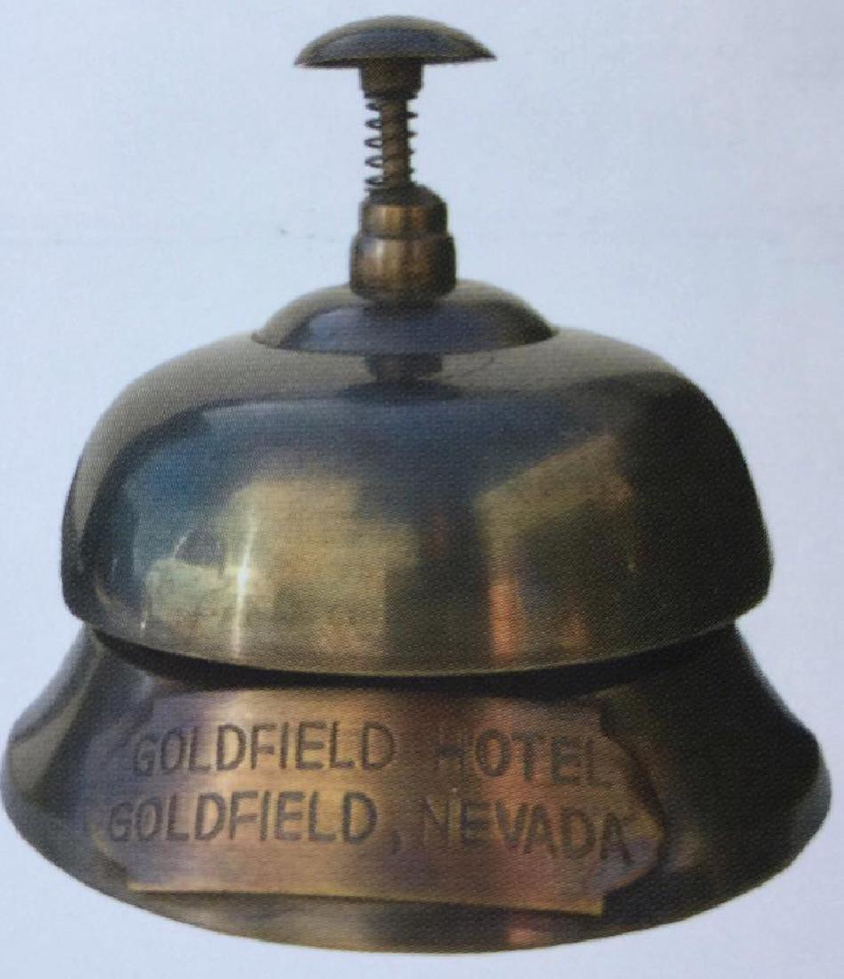 GOLDFIELD HOTEL NEVADA BRASS DESK BELL