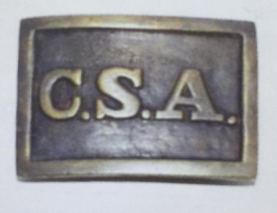 CSA CONFEDERATE STATES BRASS BELT BUCKLE