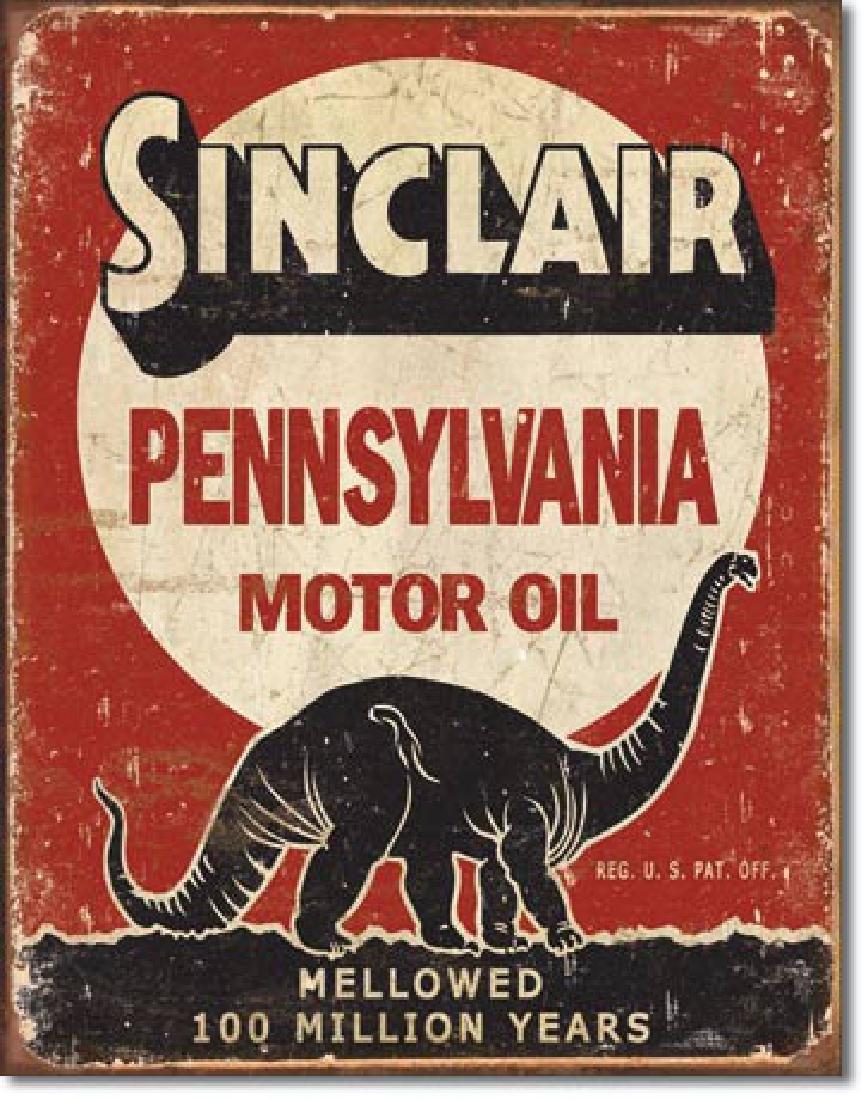 """SINCLAIR MOTOR OIL METAL SIGN 12.5"""" X 16"""""""