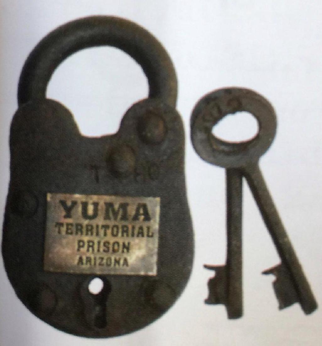 "YUMA PRISON CAST IRON GATE PADLOCK - 2.5"" X 1.5"""