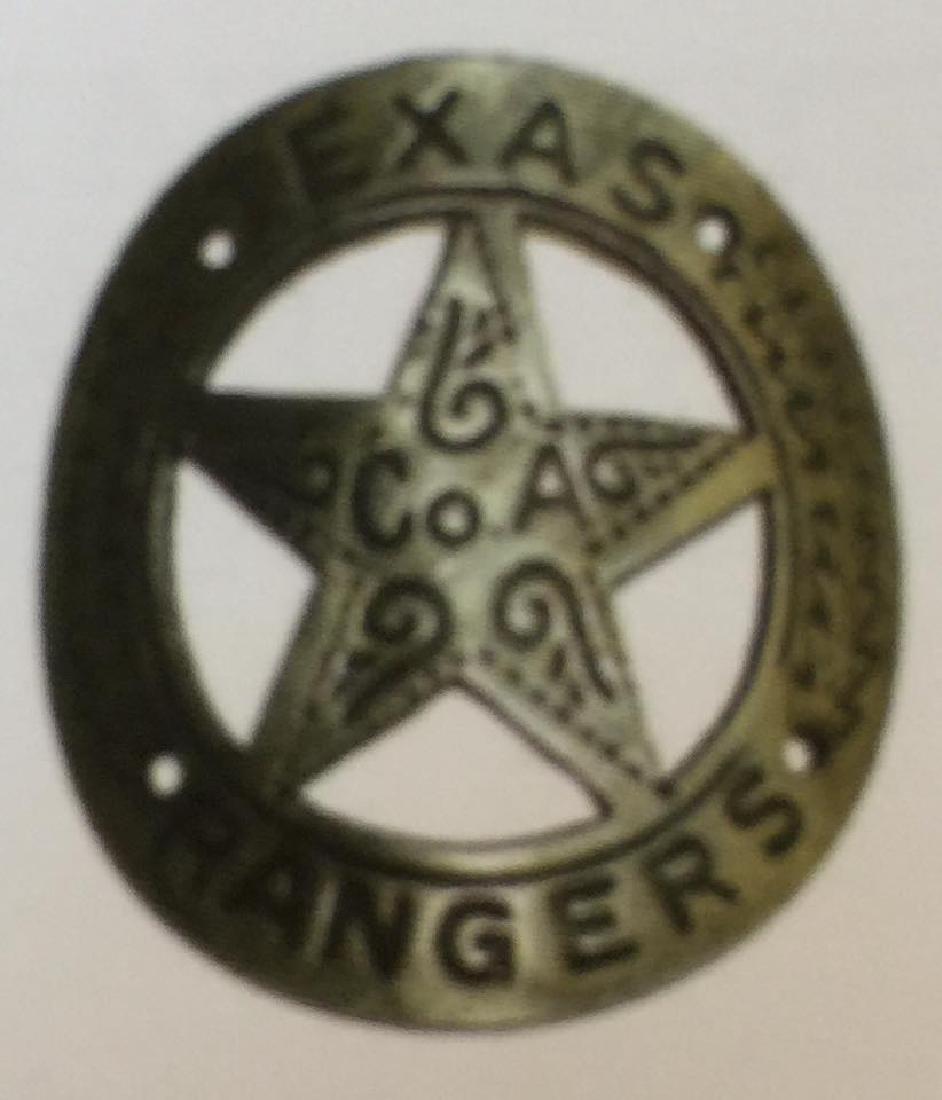 LOT OF 3 TEXAS RANGERS GUN BUTT TAGS