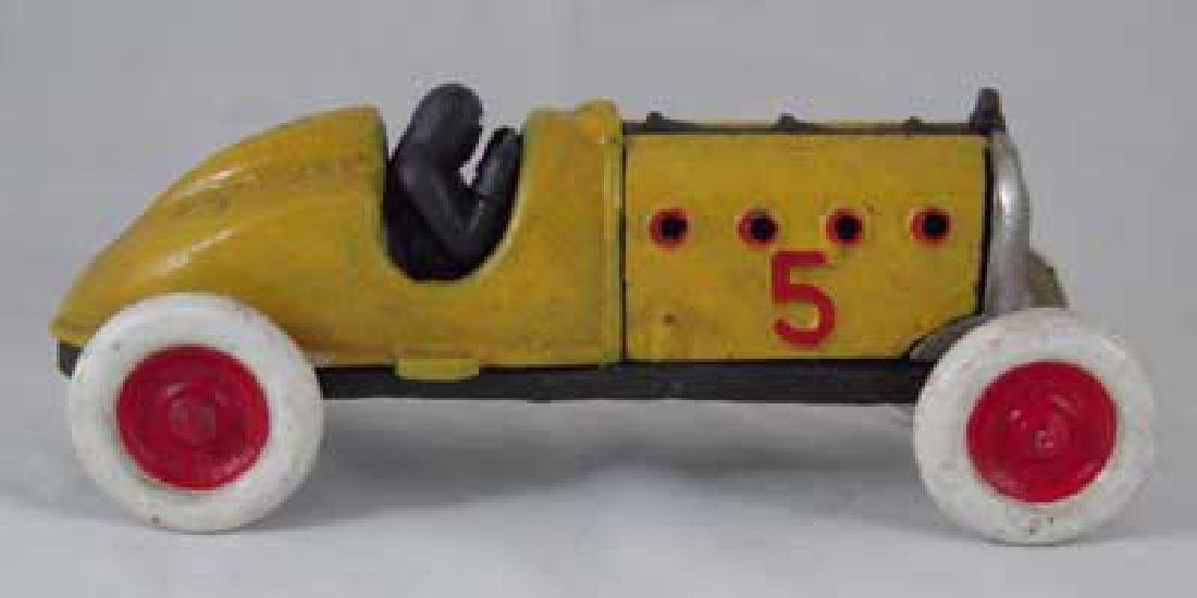 #5 RACER CAR CAST IRON TOY