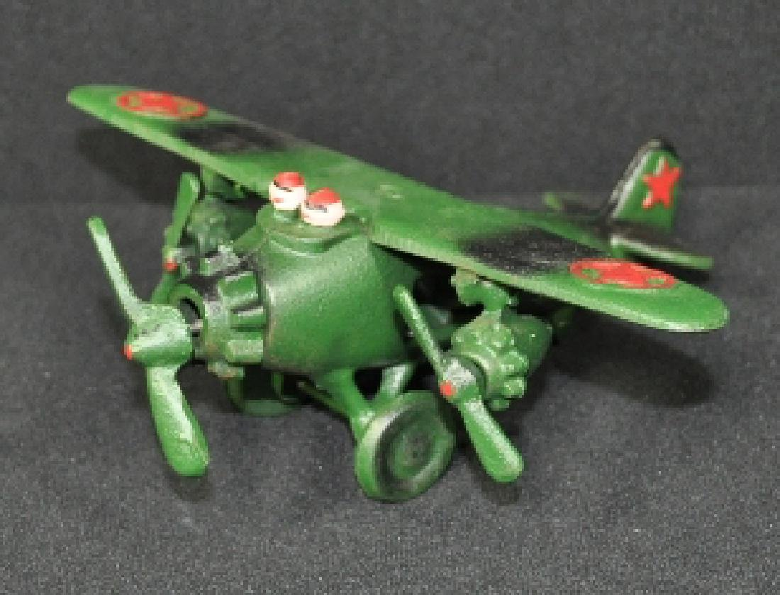 CAST IRON AIR PLANE AIRPLANE TOY