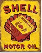 "SHELL MOTOR OIL METAL SIGN 12.5"" X 16"""