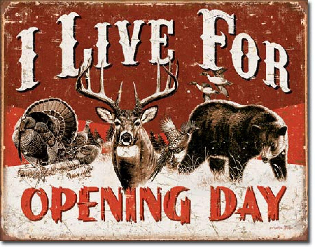 "OPENING DAY METAL SIGN 12.5"" X 16"""