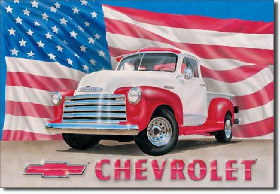 "CHEVROLET METAL SIGN 12.5"" X 16"""