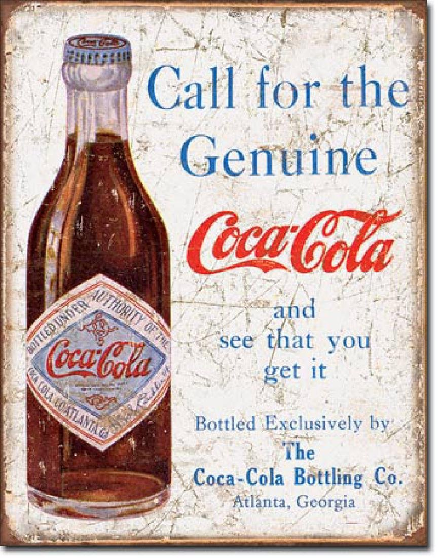 "COCA COLA METAL SIGN 12.5"" X 16"""