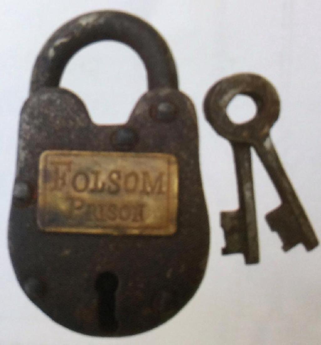 "FOLSOM PRISON CAST IRON GATE PADLOCK - 2.5"" X 1.5"""