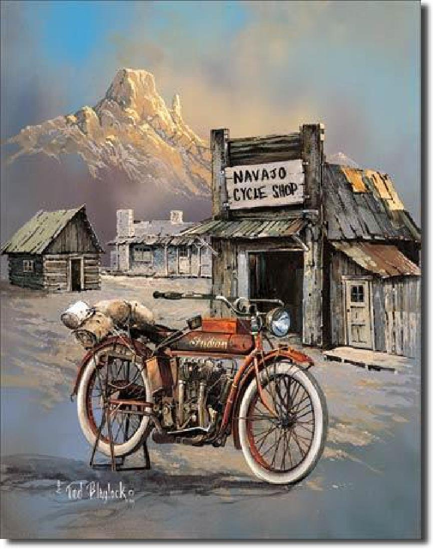 "INDIAN MOTORCYCLE METAL SIGN 12.5"" X 16"""