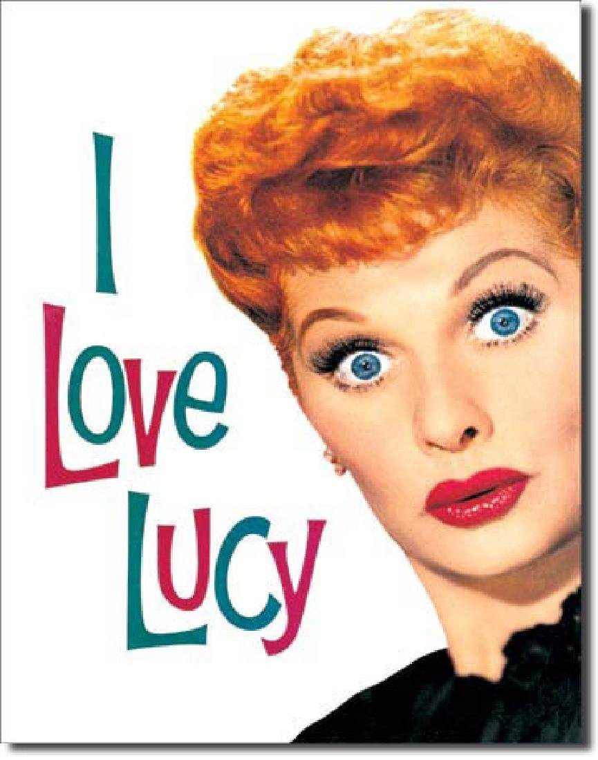 """I LOVE LUCY METAL SIGN 12.5"""" X 16"""""""