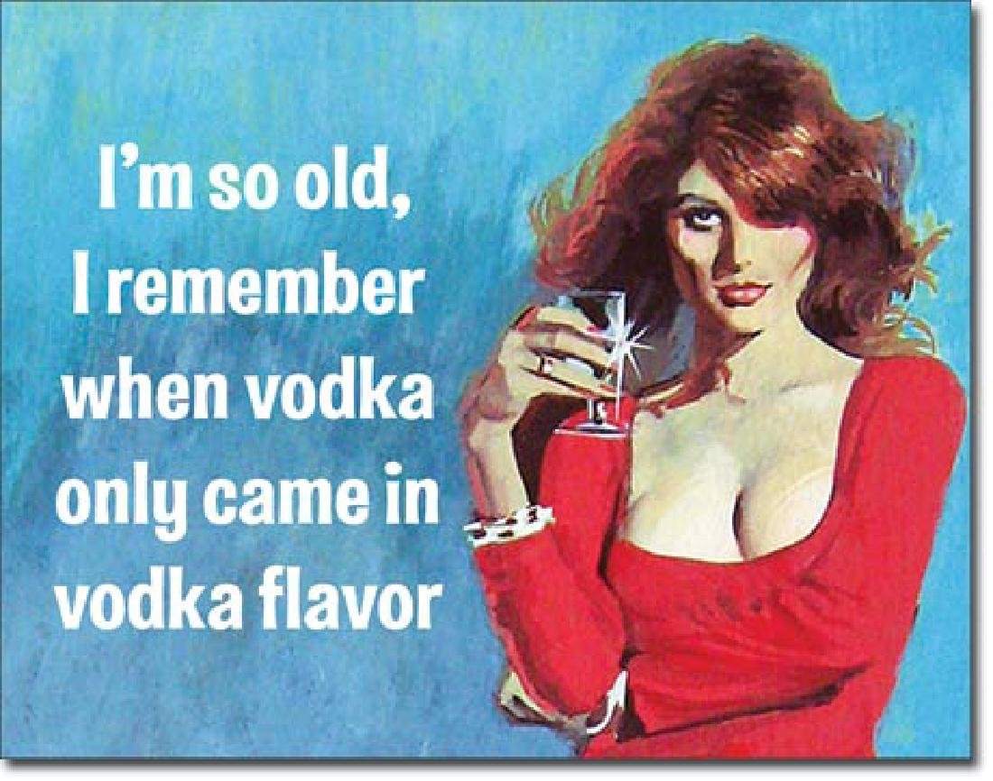 "VODKA FUNNY METAL SIGN 12.5"" X 16"""