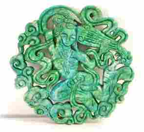 CHINESE OLD JADE HAND CARVED PENDANT