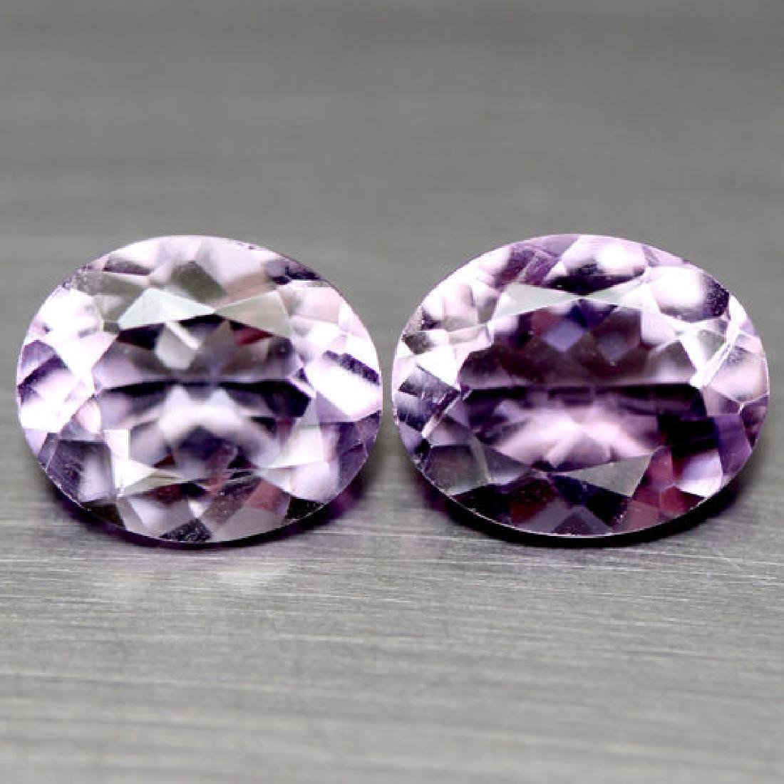 PAIR OF 4.47 CTS OF PURPLE BRAZILIAN AMETHYSTS