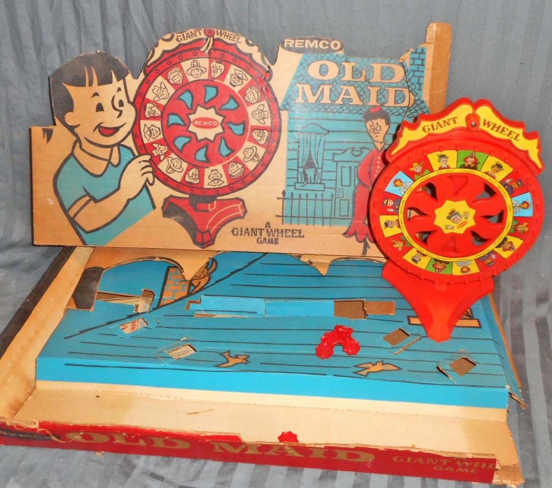 VINTAGE REMCO GIANT WHEEL OLD MAID GAME IN THE ORIGINAL