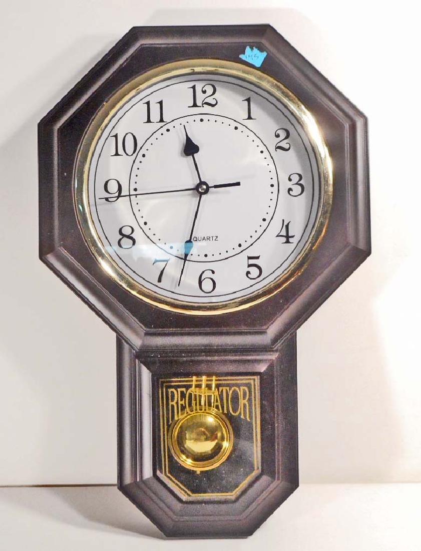 """VINTAGE REGULATOR WALL CLOCK - 18"""" TALL"""
