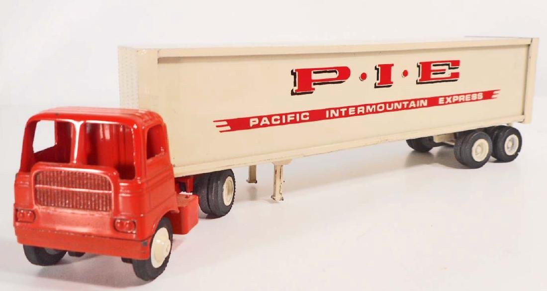 VINTAGE WINROSS TOY TRUCK AND TRAILER