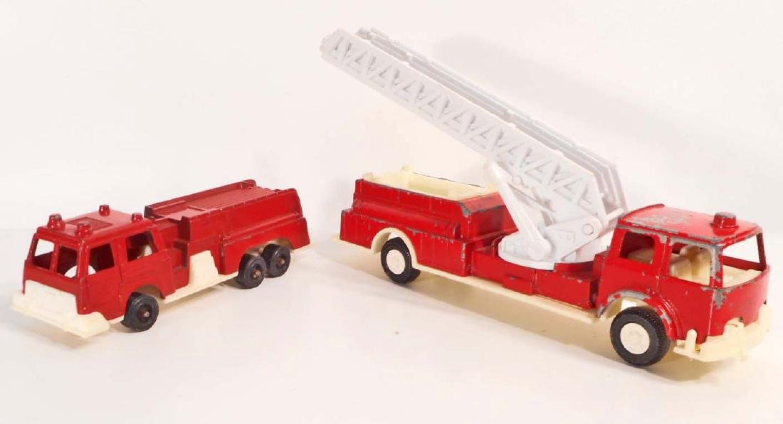 LOT OF 2 VINTAGE TOOTSIE TOY FIRE TRUCKS