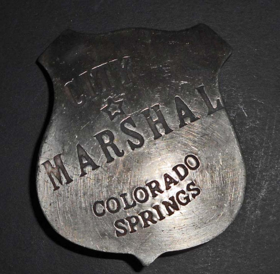 COLORADO SPRINGS CITY MARSHAL BADGE