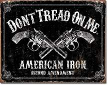 """DONT TREAD ON ME METAL SIGN 12.5"""" X 16"""""""
