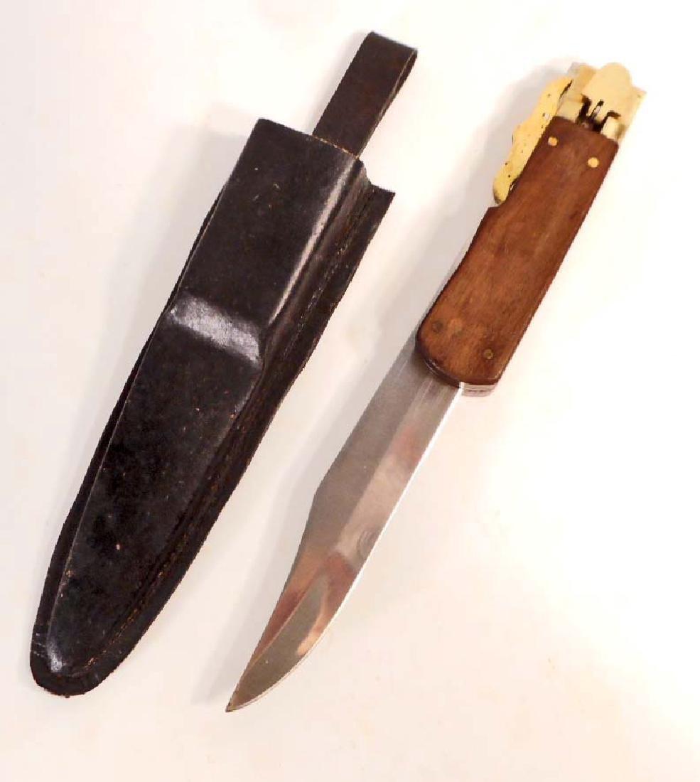 VINTAGE FOLDING HUNTING KNIFE W/ SHEATH