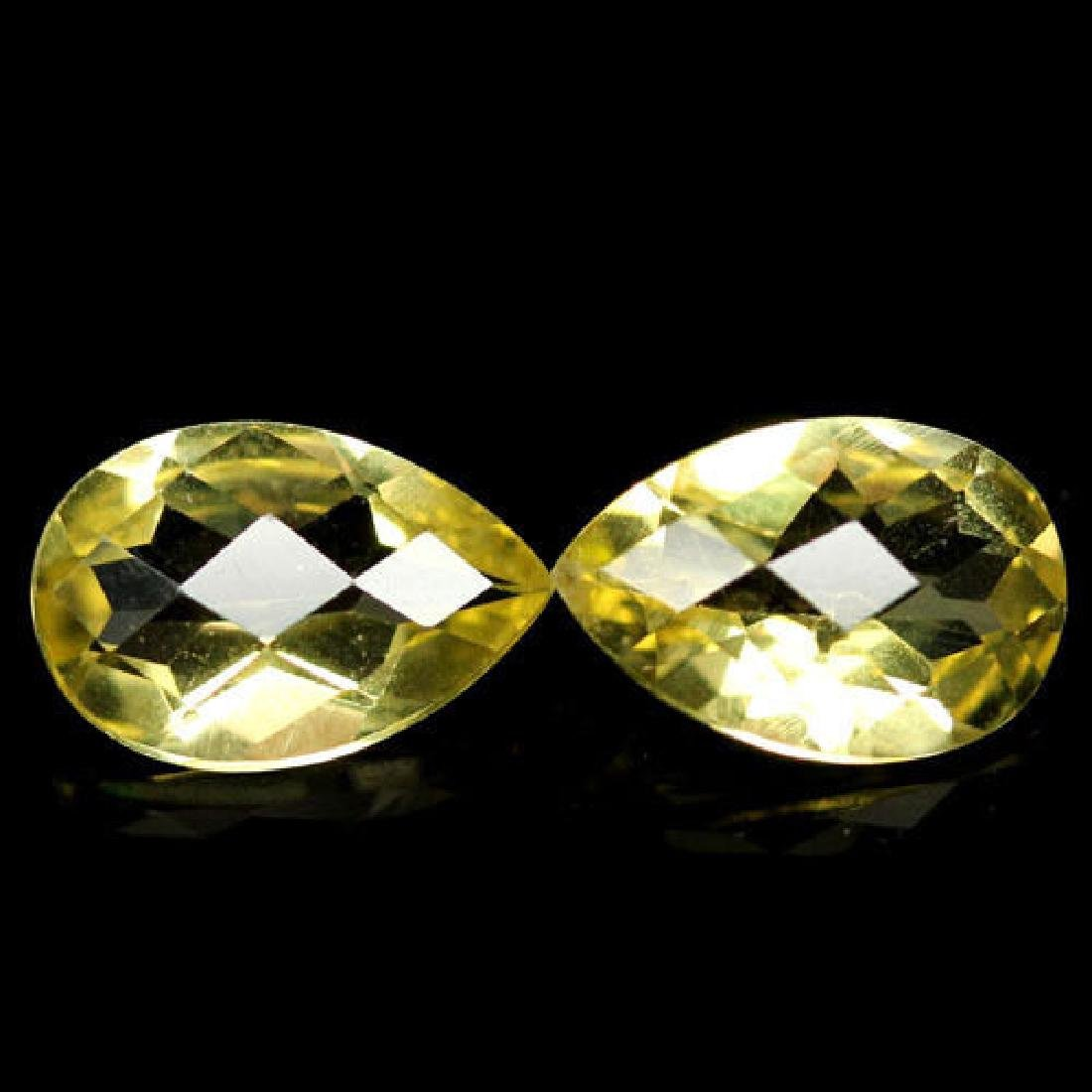 PAIR OF 5.20 CTS OF LEMON YELLOW AFRICAN QUARTZ