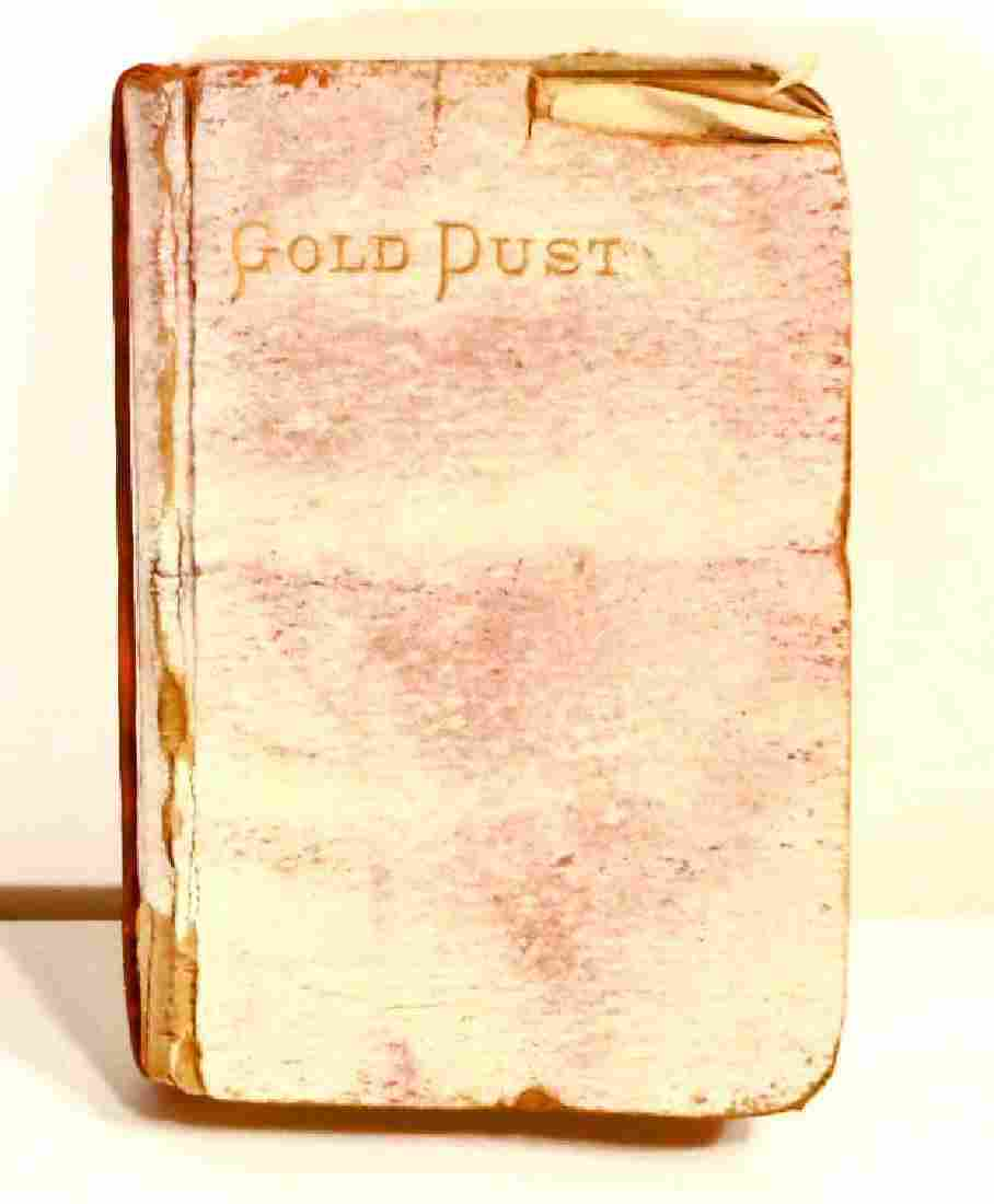 "C 1880S ANTIQUE ""GOLD DUST"" RELIGIOUS BOOK - SMALL"