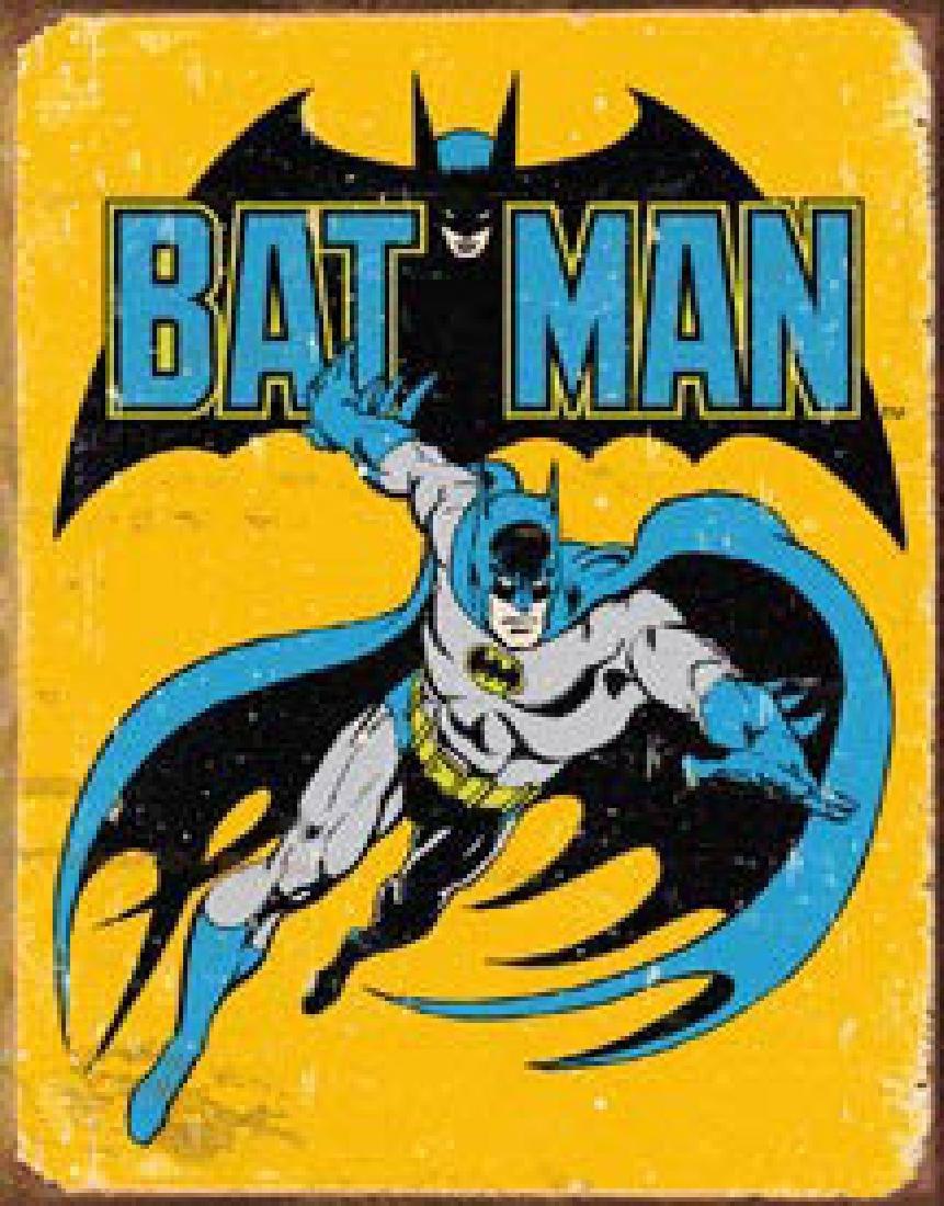 """BATMAN METAL SIGN 12.5"""" X 16"""""""
