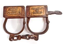 WOMAN AND CHILDS SLAVE CUFFS - GEORGETOWN COUNTY