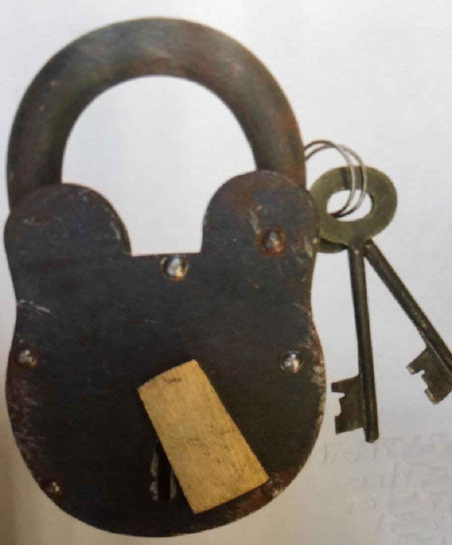 "REMINGTON HUGE CAST IRON PADLOCK - 7.25"" TALL"