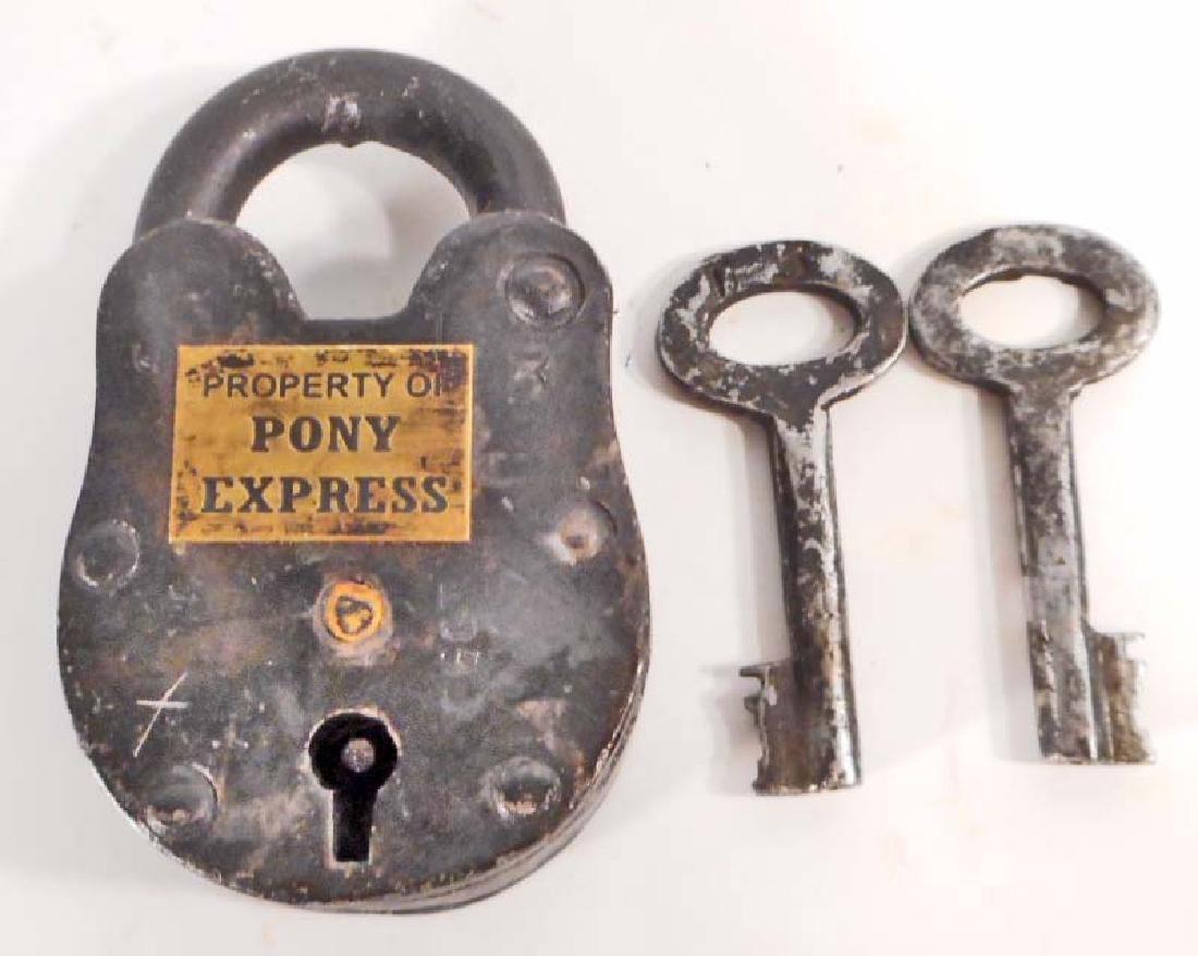 "PONY EXPRESS CAST IRON GATE PADLOCK - 2.5"" X 1.5"""