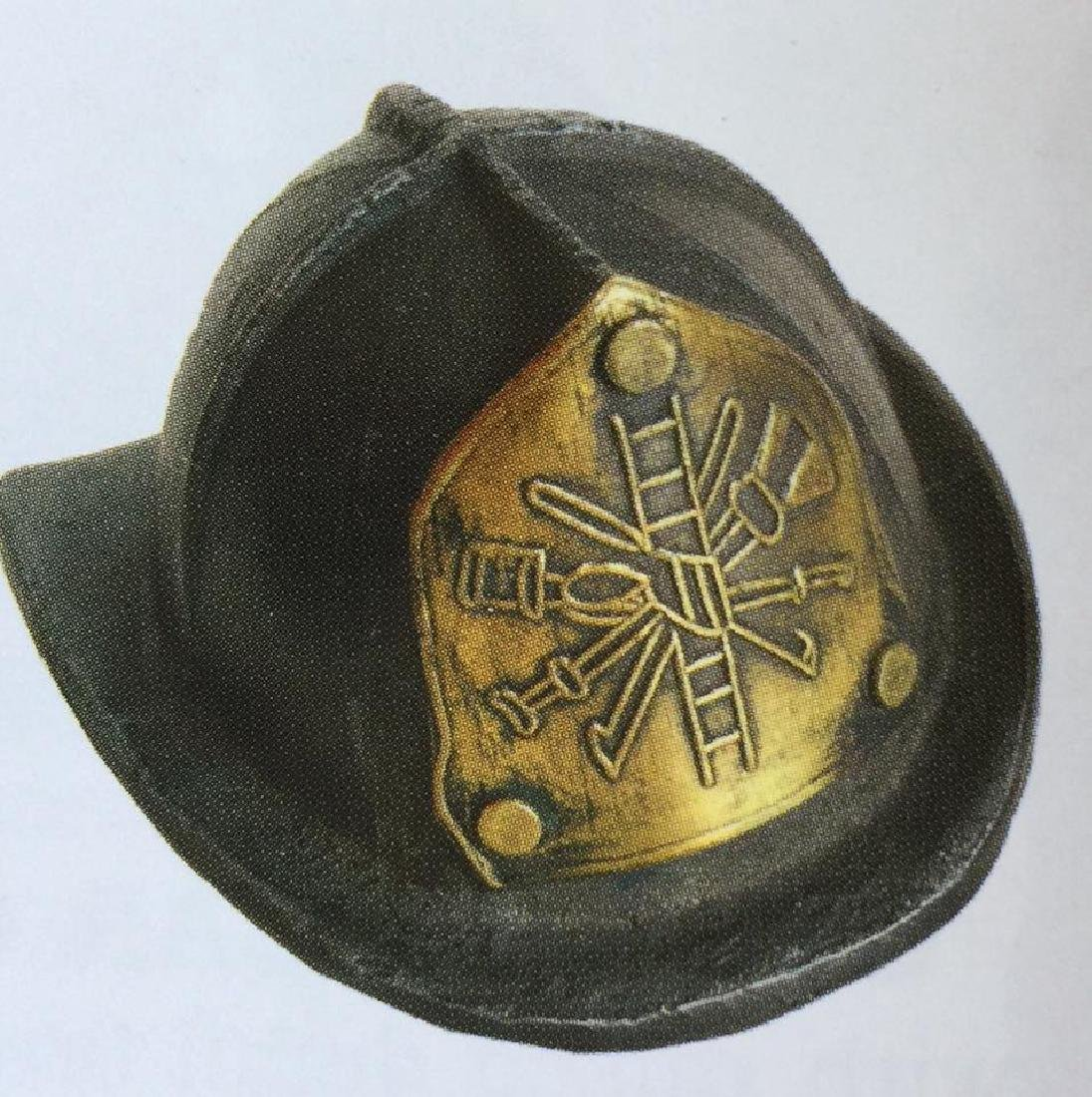 """CAST IRON AND BRASS FIRE HAT BOTTLE OPENER - 3"""" LONG"""