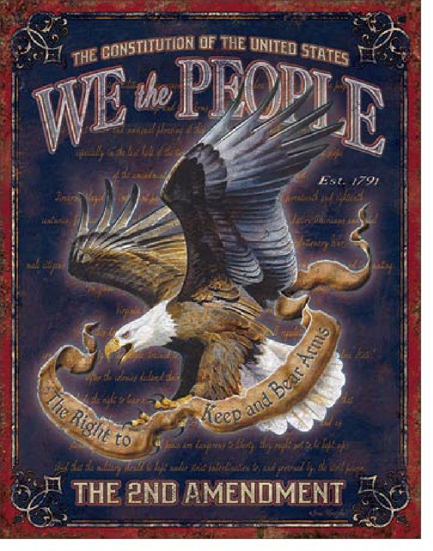 """WE THE PEOPLE METAL SIGN 12.5"""" X 16"""""""