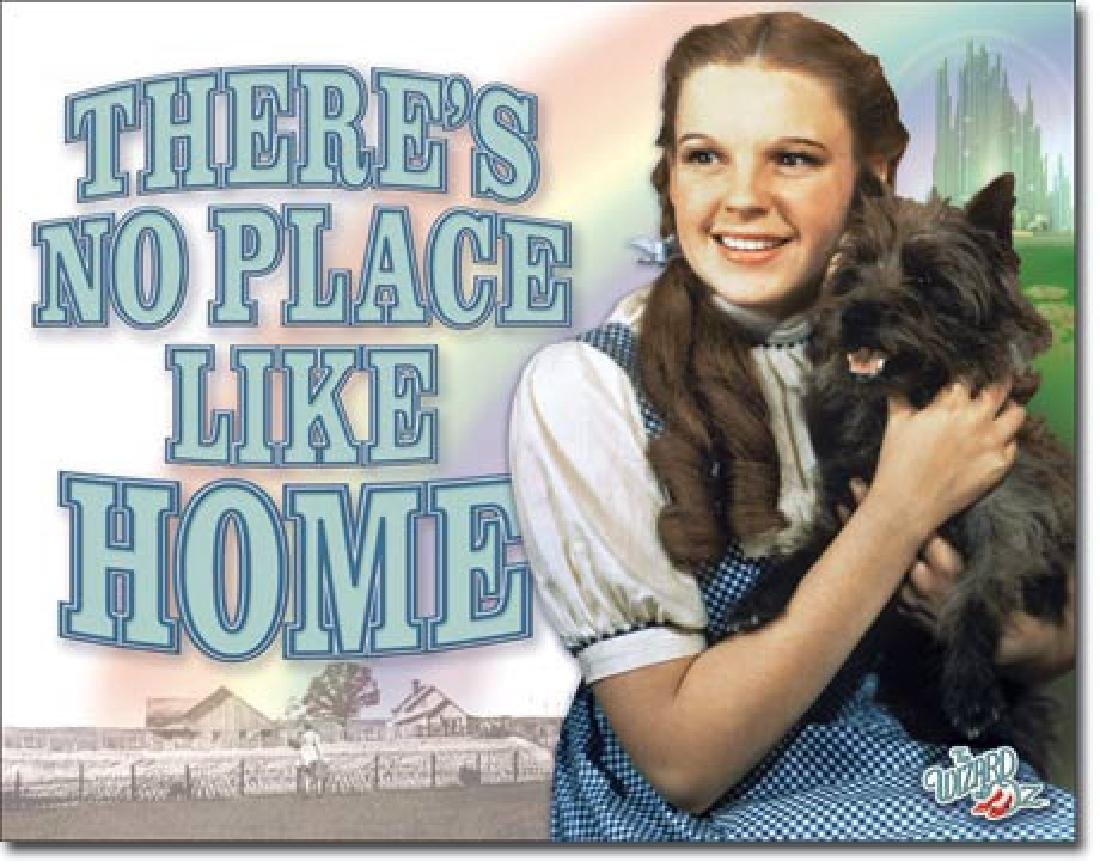 "WIZARD OF OZ METAL SIGN 12.5"" X 16"""
