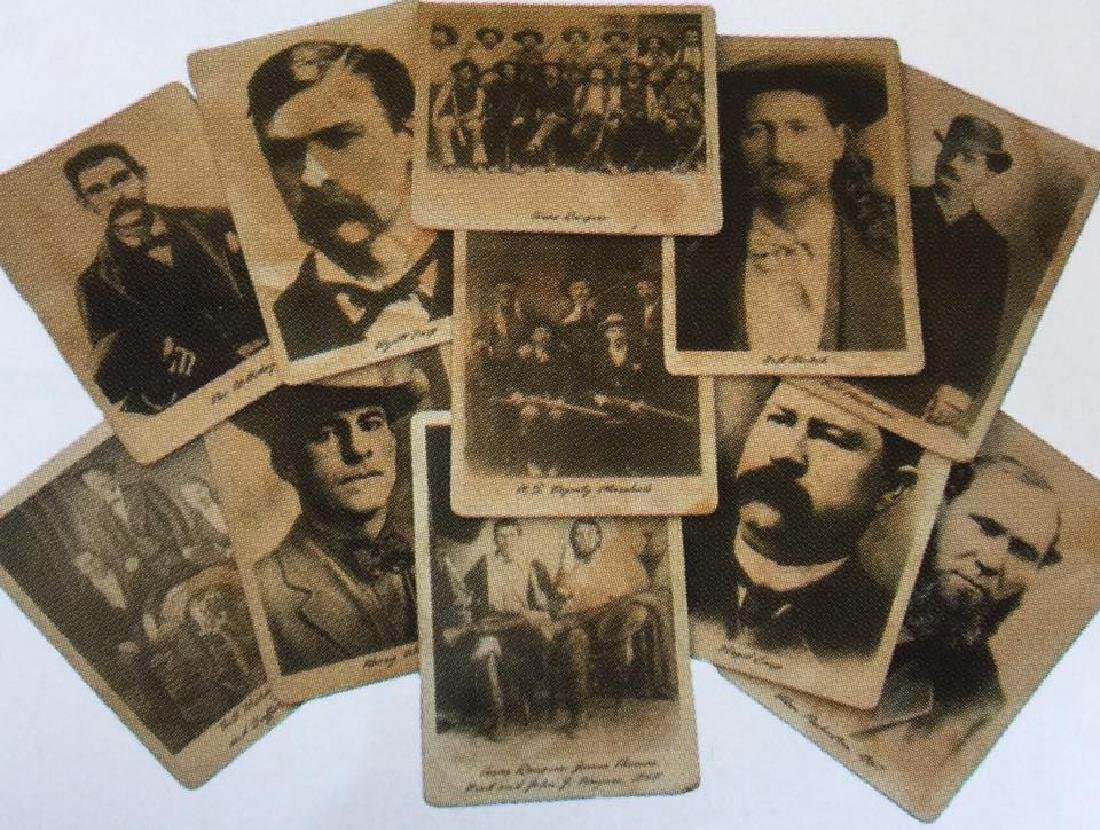 LOT OF 13 OLD WEST LAWMEN PHOTOS
