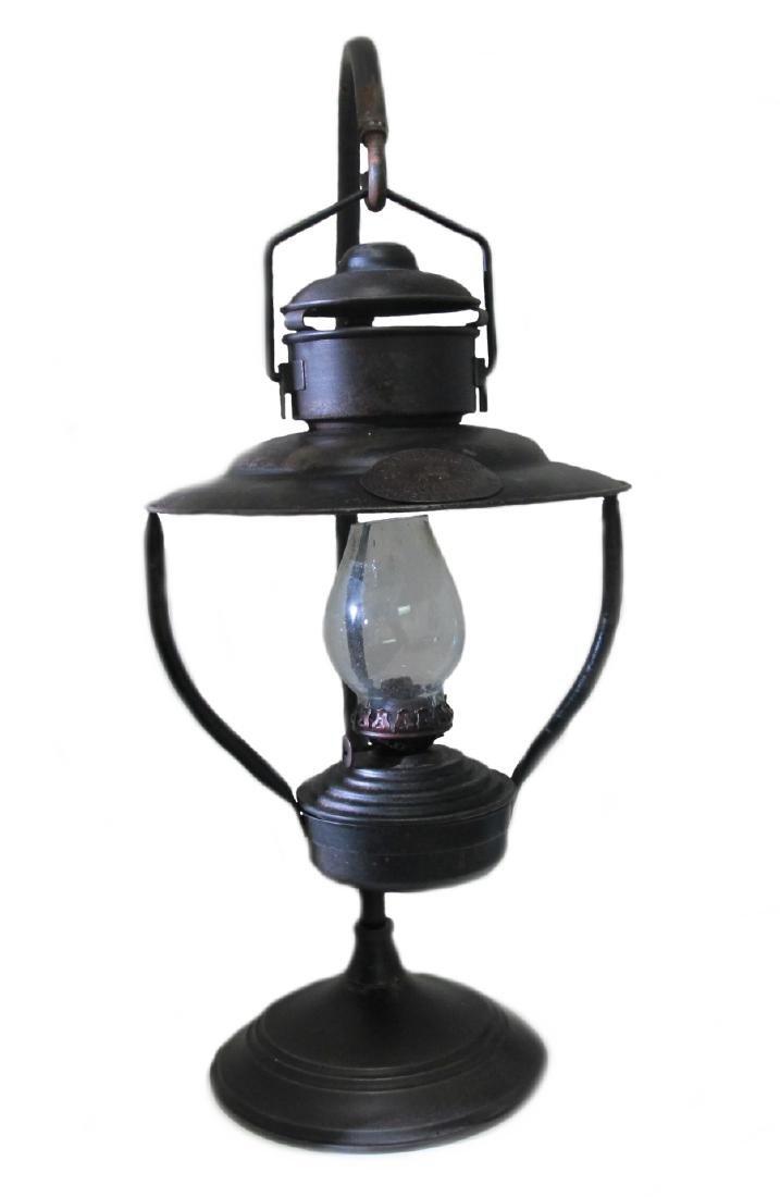 "MISS KITTYS METAL HANGING BROTHEL LAMP - 21"" TALL"