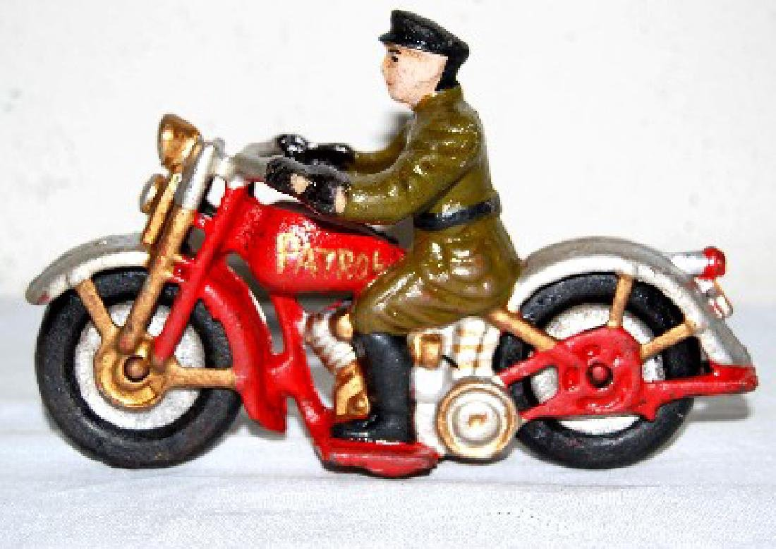 CAST IRON MOTORCYCLE PATROL TOY