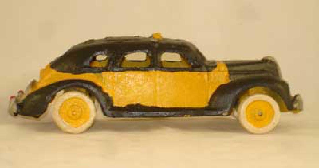 CAST IRON TAXI CAB CAR TOY