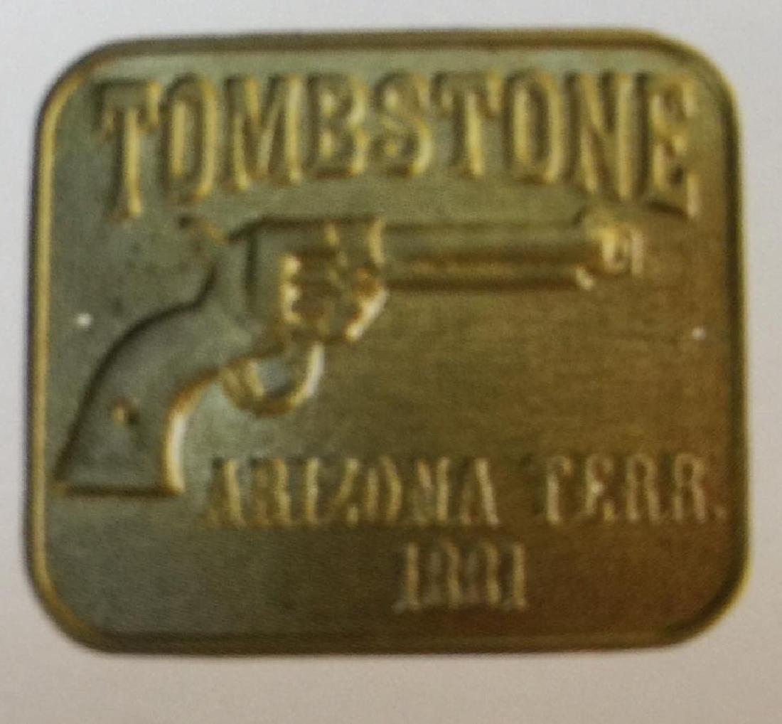 LOT OF 3 TOMBSTONE ARIZONA TERR. GUN BUTT TAGS