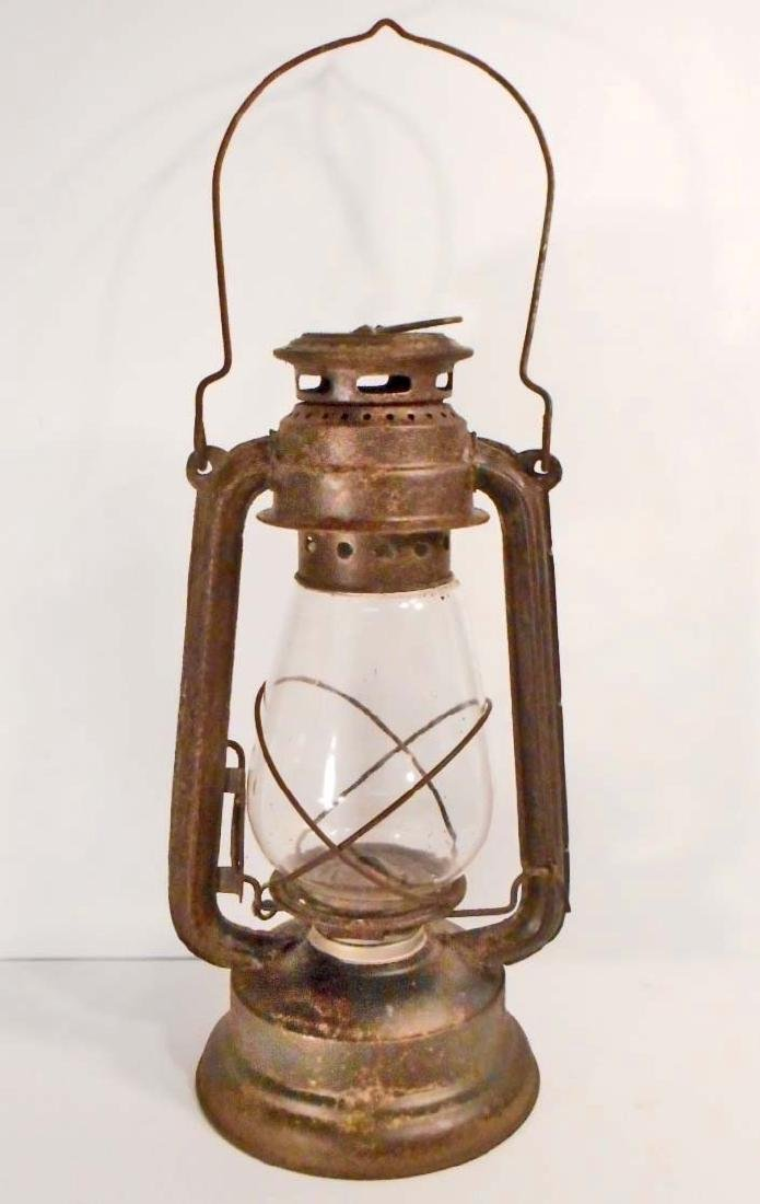 "UNION PACIFIC METAL RAILROAD LANTERN - 13"" TALL"