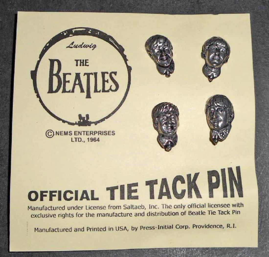 THE BEATLES OFFICIAL TIE TACK PIN SET OF 4