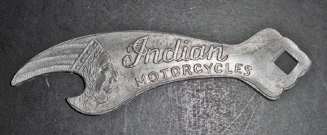 INDIAN MOTORCYCLES METAL ADVERTISING BOTTLE OPENER