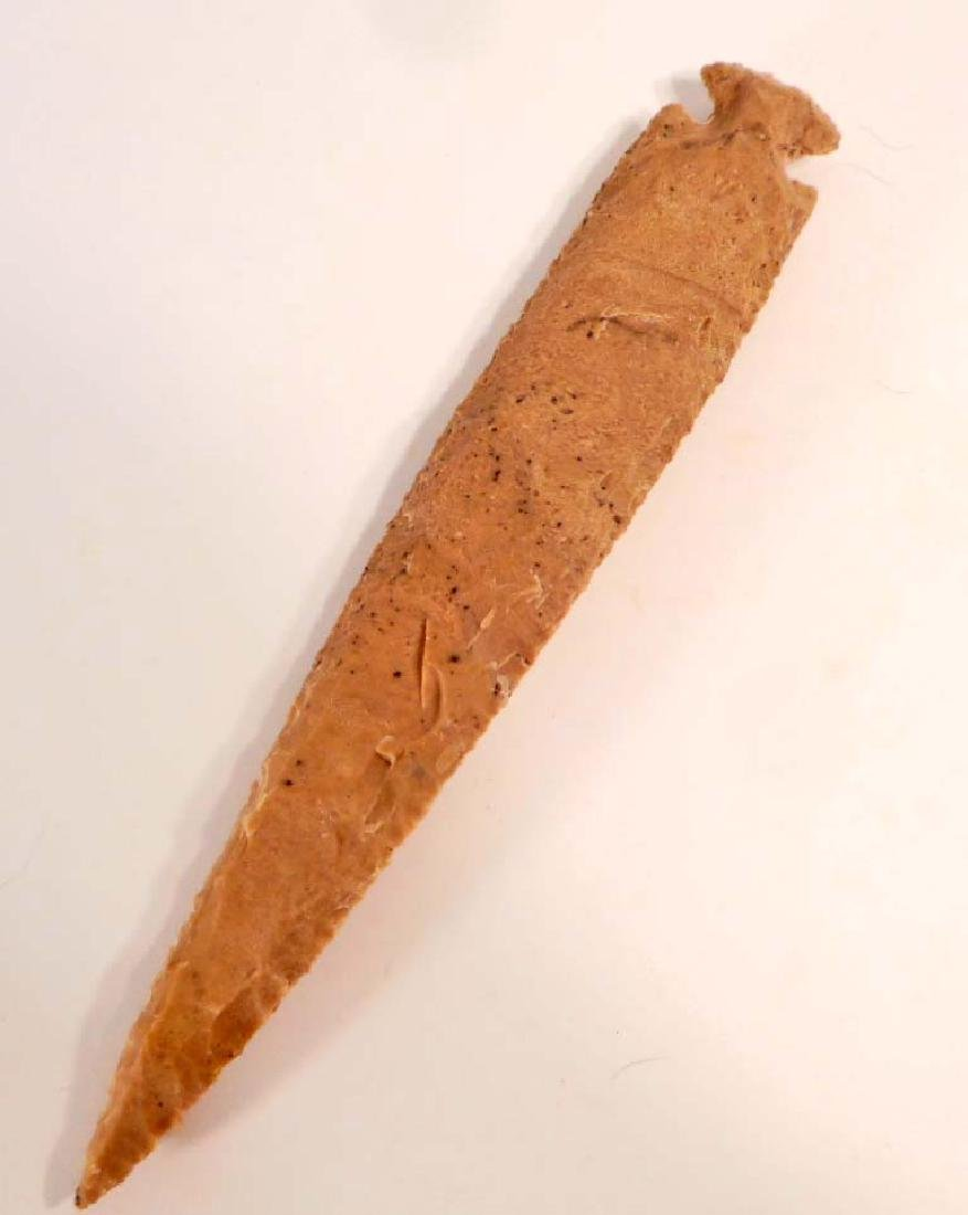 LARGE OHIO FLINT SPEARHEAD KNIFE BLADE / ARROWHEAD