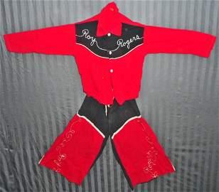 VINTAGE ROY ROGERS CHILDS COSTUME - PANTS & SHIRT