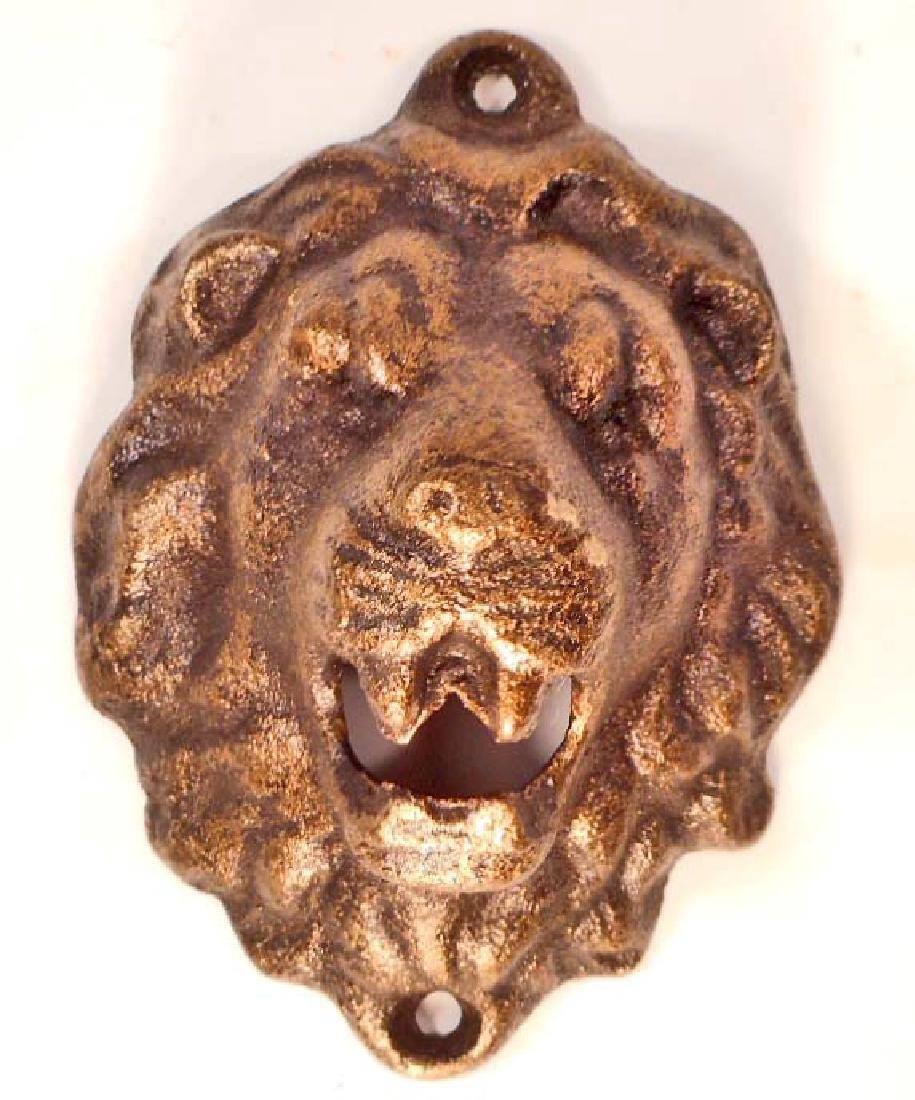 CAST IRON LION WALL MOUNT BOTTLE OPENER