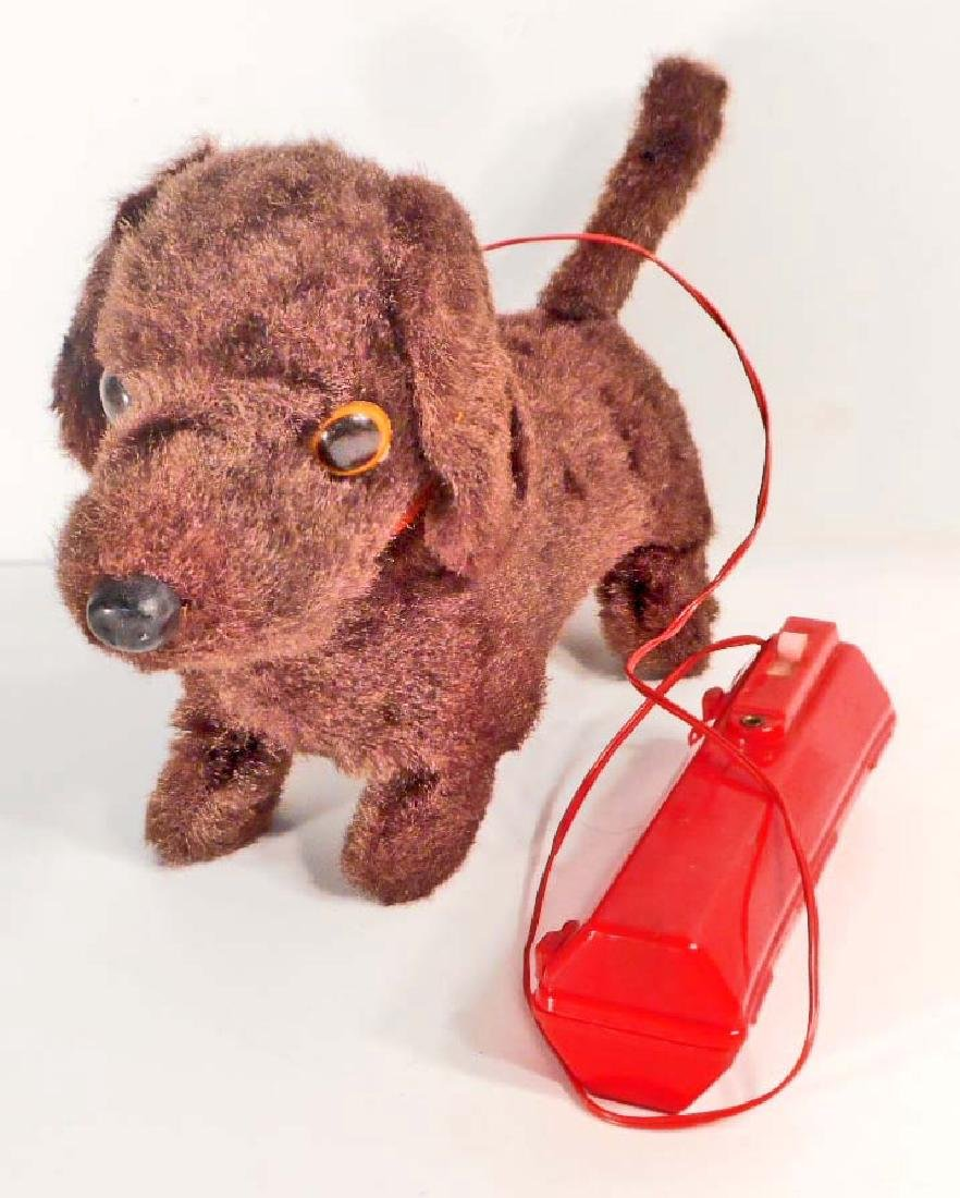 VINTAGE CHEERFUL DACHSHUND BATTERY OPERATED TOY DOG