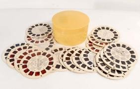 LOT OF 20 VINTAGE VIEW MASTER REELS IN CELLULOID
