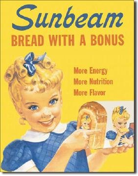 "SUNBEAM BREAD METAL SIGN 12.5"" X 16"""