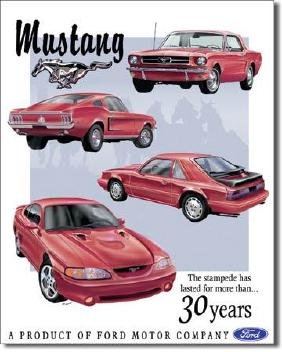 """FORD MUSTANG METAL SIGN 12.5"""" X 16"""""""